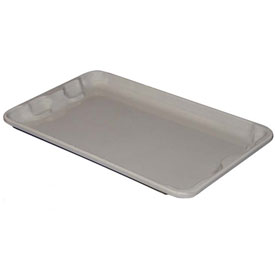 "Molded Fiberglass Toteline Nest and Stack Lid 780218 -17-7/8"" x10""- 5/8"", Pkg Qty 10, Gray - Pkg Qty 10"