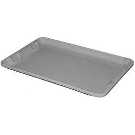 "Molded Fiberglass Toteline Nest and Stack Lid 780318 - 19-3/4"" x 12-1/2"", Pkg Qty 10, Gray - Pkg Qty 10"