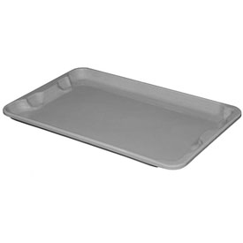 "Molded Fiberglass Toteline Nest and Stack Lid 780418 - 20-1/2"" x 12-7/8"", Pkg Qty 10, Gray - Pkg Qty 10"