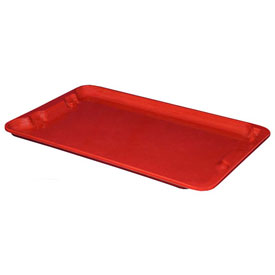 "Molded Fiberglass Toteline Nest and Stack Lid 780518 - 24-1/4"" x 14-3/4"", Pkg Qty 10, Red - Pkg Qty 10"