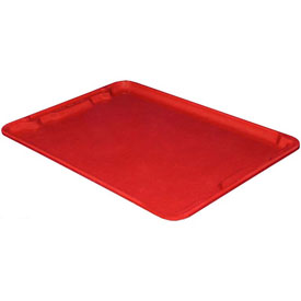 "Molded Fiberglass Toteline Nest and Stack Lid 780618 - 25-1/4"" x 18"", Pkg Qty 5, Red - Pkg Qty 5"