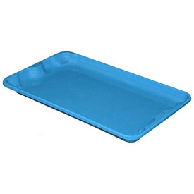 "Molded Fiberglass Toteline Nest and Stack Lid 780218 -17-7/8"" x10""- 5/8"", Pkg Qty 10, Blue - Pkg Qty 10"