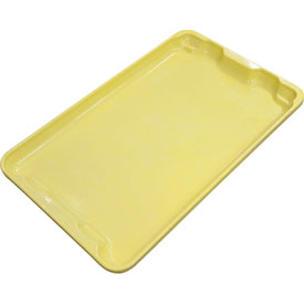 "Molded Fiberglass Toteline Nest and Stack Lid 780318 - 19-3/4"" x 12-1/2"", Pkg Qty 10, Yellow - Pkg Qty 10"