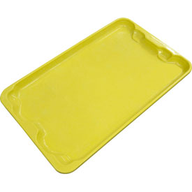 "Molded Fiberglass Toteline Nest and Stack Lid 780418 - 20-1/2"" x 12-7/8"", Pkg Qty 10, Yellow - Pkg Qty 10"