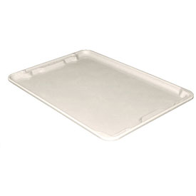 "Molded Fiberglass Toteline Nest and Stack Lid 780618 - 25-1/4"" x 18"", Pkg Qty 5, White - Pkg Qty 5"