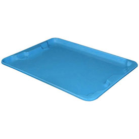 "Molded Fiberglass Toteline Nest and Stack Lid 780718 - 27-1/2"" x 20"", Pkg Qty 5, Blue - Pkg Qty 5"