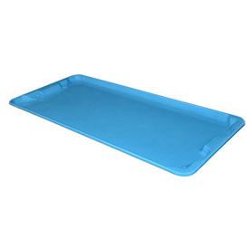 "Molded Fiberglass Nest and Stack Lid 780118 - 42-1/2"" x 20"", Blue"