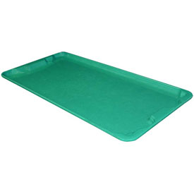 "Molded Fiberglass Nest and Stack Lid 780118 - 42-1/2"" x 20"", Green"