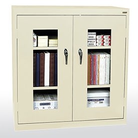Sandusky Clear View  Counter Height Cabinet CA2V362442 - 36x24x42, Putty
