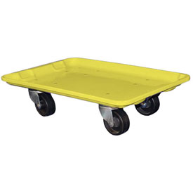 "Molded Fiberglass Toteline Dolly 780438 for 20-1/2"" x 12-7/8"" x 8"" Tote, Yellow"