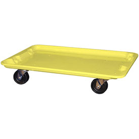 "Molded Fiberglass Toteline Dolly 780538 for 24-3/8"" x 14-7/8"" x 8"" Tote, Yellow"