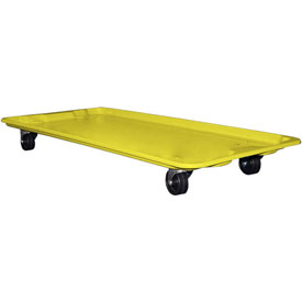 "Molded Fiberglass Toteline Dolly 780138 for 42-1/2"" x 20"" x 7-1/2"" Tote, Yellow"