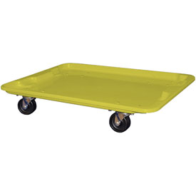 "Molded Fiberglass Toteline Dolly 780738 for 27-1/2 "" x 20"" x 14-1/8"" Tote, Yellow"