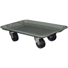 "Molded Fiberglass Toteline Dolly 780338 for 19-3/4"" x 12-1/2"" x 6"" Tote, Gray"