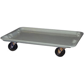 "Molded Fiberglass Toteline Dolly 780538 for 24-3/8"" x 14-7/8"" x 8"" Tote, Gray"