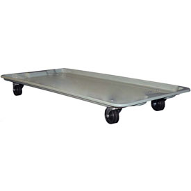 "Molded Fiberglass Toteline Dolly 780138 for 42-1/2"" x 20"" x 7-1/2"" Tote, Gray"