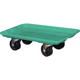 "Molded Fiberglass Toteline Dolly 780238 for 17-7/8"" x10""-5/8"" x 5"" Tote, Green"