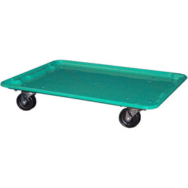 "Molded Fiberglass Toteline Dolly 780638 for 25-1/4"" x 18""x 10"" Tote, Green"