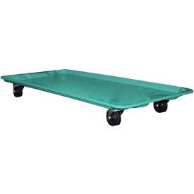 "Molded Fiberglass Toteline Dolly 780138 for 42-1/2"" x 20"" x 7-1/2"" Tote, Green"