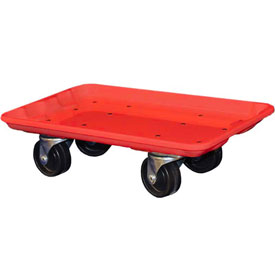 "Molded Fiberglass Toteline Dolly 780238 for 17-7/8"" x10""-5/8"" x 5"" Tote, Red"