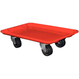 "Molded Fiberglass Toteline Dolly 780338 for 19-3/4"" x 12-1/2"" x 6"" Tote, Red"