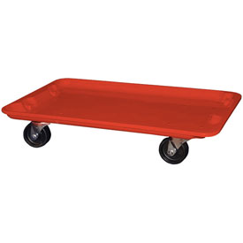 "Molded Fiberglass Toteline Dolly 780538 for 24-3/8"" x 14-7/8"" x 8"" Tote, Red"