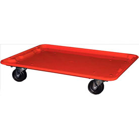 "Molded Fiberglass Toteline Dolly 780638 for 25-1/4"" x 18""x 10"" Tote, Red"