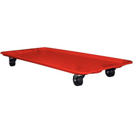 "Molded Fiberglass Dolly 780138 for 42-1/2"" x 20"" x 14-1/4"" Tote, Red"
