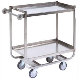 Jamco Stainless Steel Shelf Truck XM236 36x24 2 Shelves