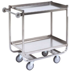 Jamco Stainless Steel Shelf Truck XM248 48x24 2 Shelves