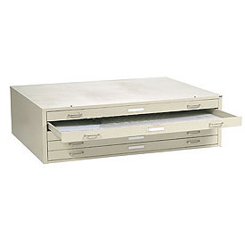 """Interion® - Blueprint Flat File Cabinet – 5 Drawer - 41""""W – Putty"""