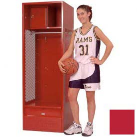 Penco 6KFD33-767 Stadium® Locker With Shelf Security Box & Footlocker 24x24x72 Red Unassembled