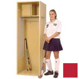 Penco 6KFD31-767 Stadium® Locker With Shelf & Security Box,24x24x72 Cardinal Red, Unassembled