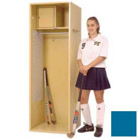 Penco 6KFD31-806 Stadium® Locker With Shelf & Security Box,24x24x72, Marine Blue, Unassembled