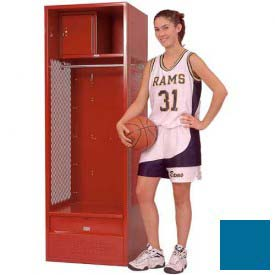 Penco 6KFD33-806 Stadium® Locker With Shelf Security Box & Footlocker 24x24x72 Blue Unassembled