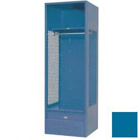 Penco 6WFD32-806 Stadium® Locker With Shelf & Footlocker, 24x24x76, Marine Blue, All Welded