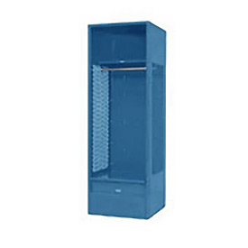 Penco 6WFD62-806 Stadium® Locker With Shelf & Footlocker, 33x24x76, Marine Blue, All Welded