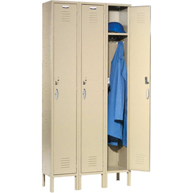 Capital™ Locker Single Tier 12x15x72 3 Door Ready To Assemble Tan