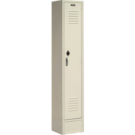 Paramount® Locker Single Tier 12x18x72 1 Door Ready To Assemble Tan