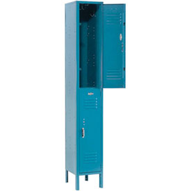Paramount® Locker Double Tier 12x12x36 2 Door Ready To Assemble Blue