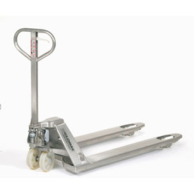 Best Value Stainless Steel Pallet Jack Truck 27 x 48 4400 Lb. Capacity