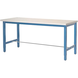 "60""W x 30""D Packaging Workbench - ESD Laminate Square Edge - Blue"