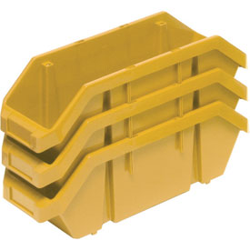 Quantum Quickpick Double Plastic Hopper Bin QP1867 6-5/8 x 18-1/2 x 7 Yellow - Pkg Qty 10