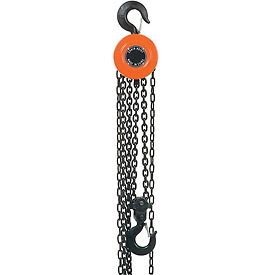 Manual Chain Hoist 10 Foot Lift 10,000 Pound Capacity