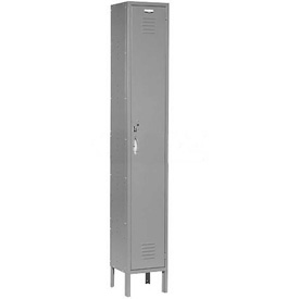 Capital® Locker Single Tier 12x15x72 1 Door Assembled Gray
