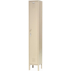 Capital® Locker Single Tier 12x18x72 1 Door Assembled Tan