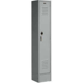 Paramount® Locker Single Tier 12x15x60 1 Door Assembled Gray
