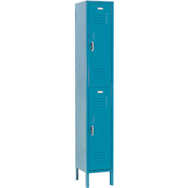 Paramount® Locker Double Tier 12x18x36 2 Door Assembled Blue