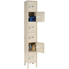 Paramount® Locker Six Tier 12x15x12 6 Door Assembled Tan