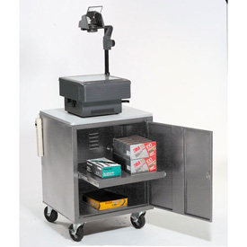 Gray Security Audio Visual Cart 500 Lb. Capacity